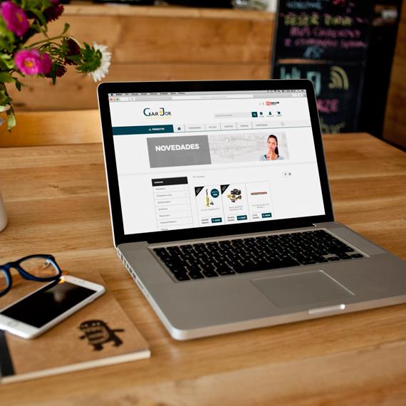 Diseño de tienda online para Garjor - Softmedia