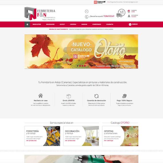 Diseño de tienda online para Ferretería Felipe y Nicolás - Softmedia